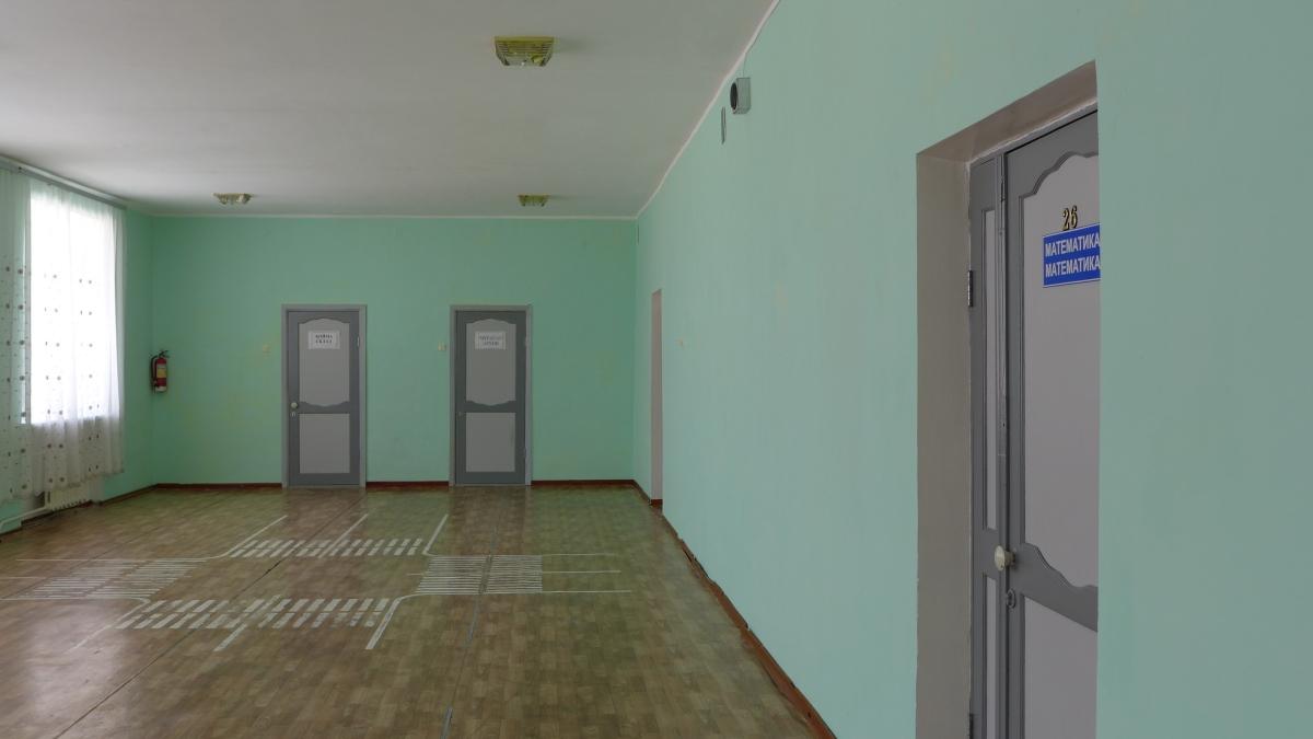 Ein Blick in die Schule: Eine Dauerbaustelle, wie der BER