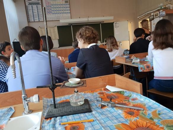 Chemiekabinett, Schule No. 1, Volzshkiy, Russland