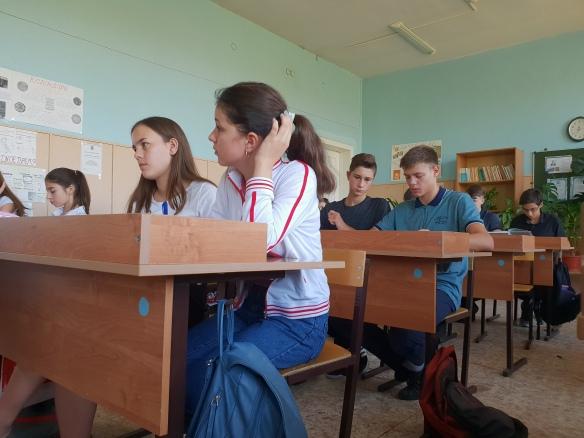 Klassenzimmer Schule No. 1, Volzhskiy, Russland