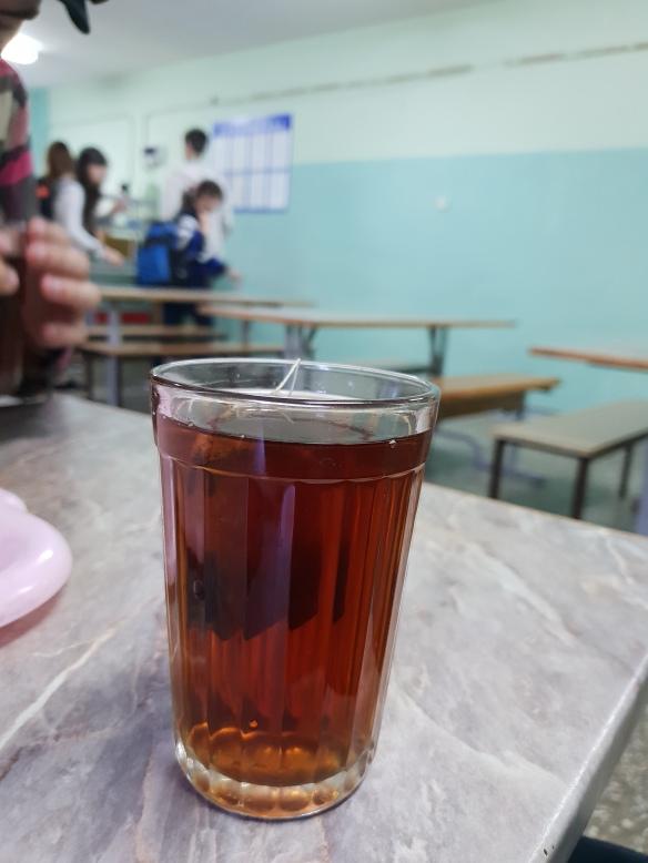 Schulkantine, Schule No. 1, Volzshkiy, Russland